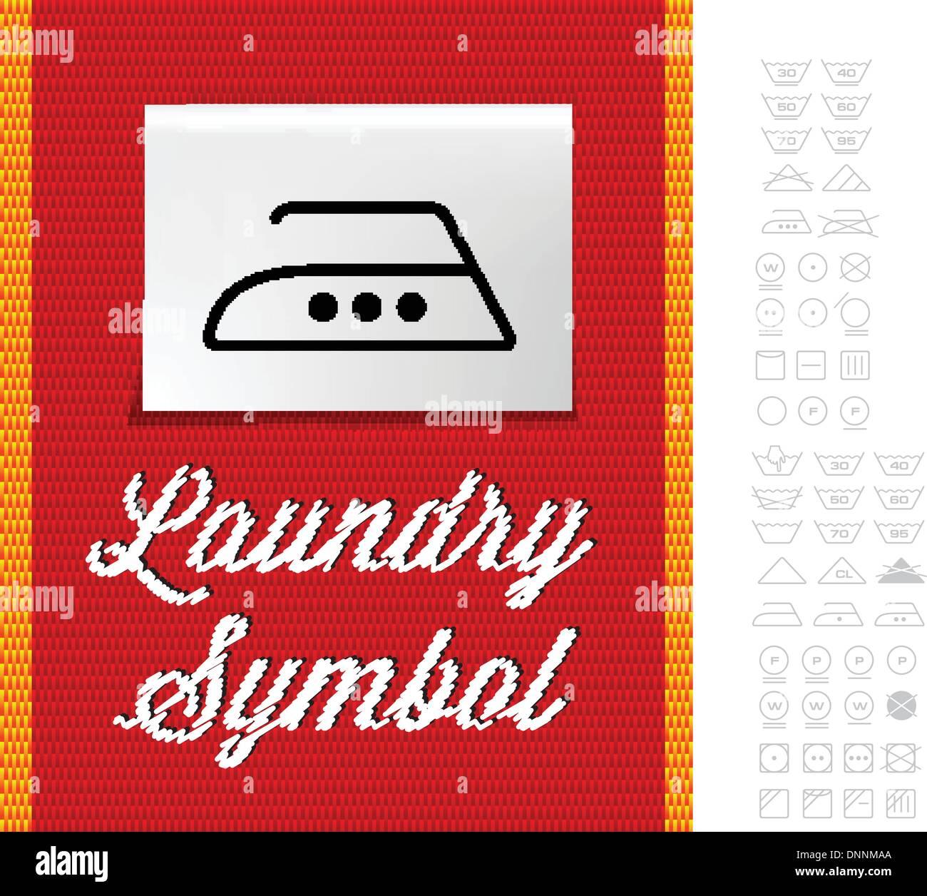 Washing Symbols On Clothing Label Stock Photos Washing Symbols On