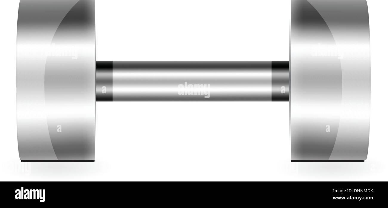 Dumbbell Illustration - Stock Image
