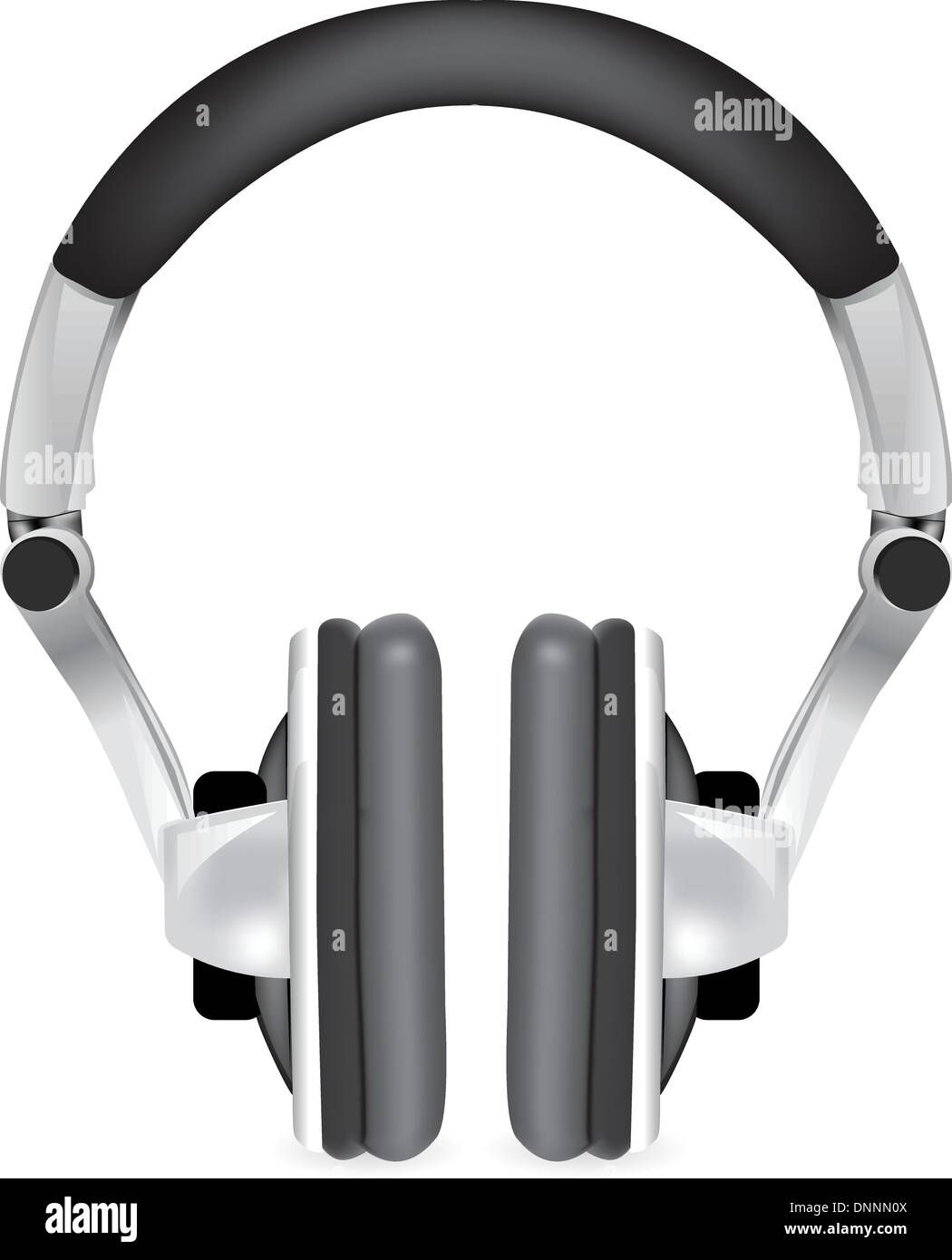 Professional icon of the headphones. Mesh tool used - Stock Image