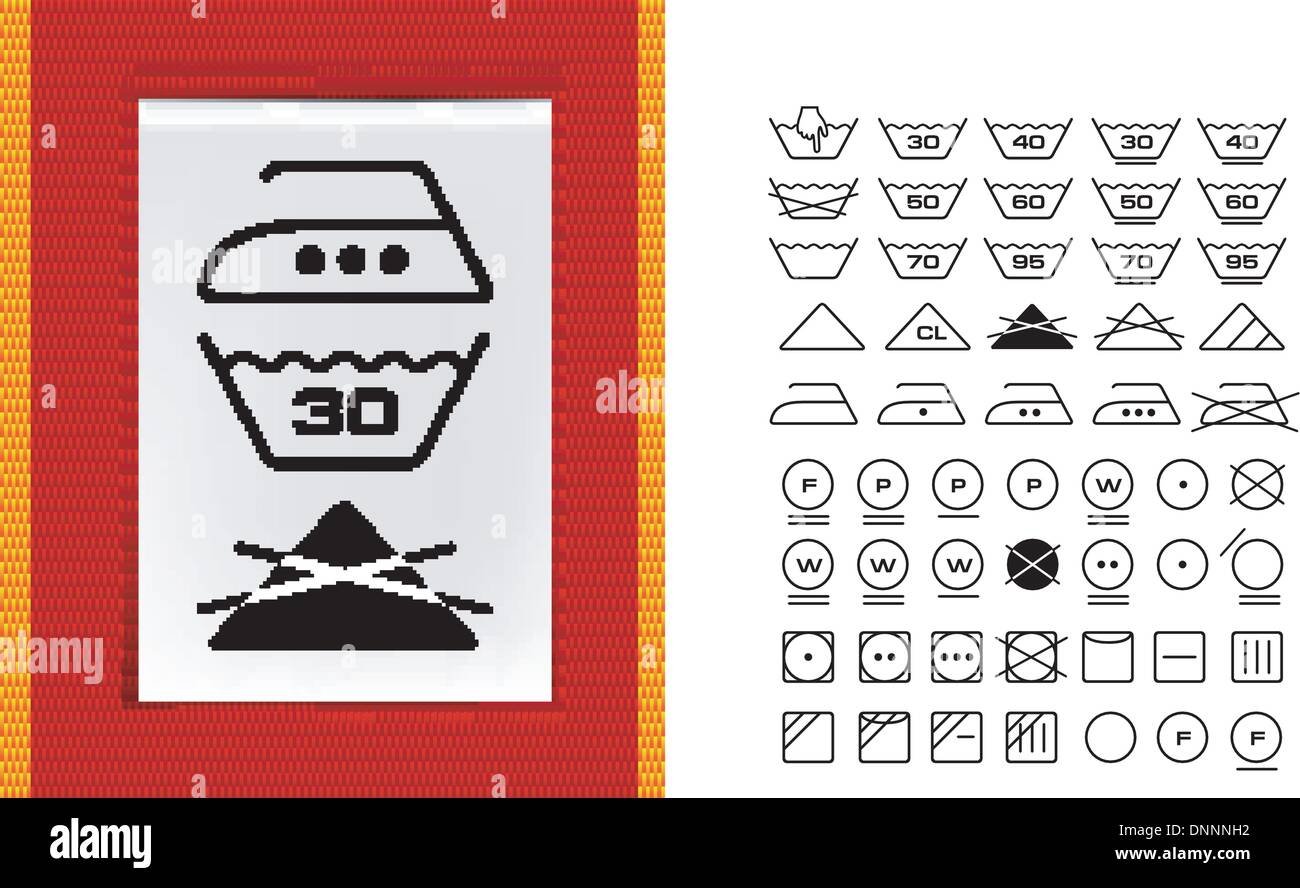 Washing Symbols Stock Photos Washing Symbols Stock Images Alamy