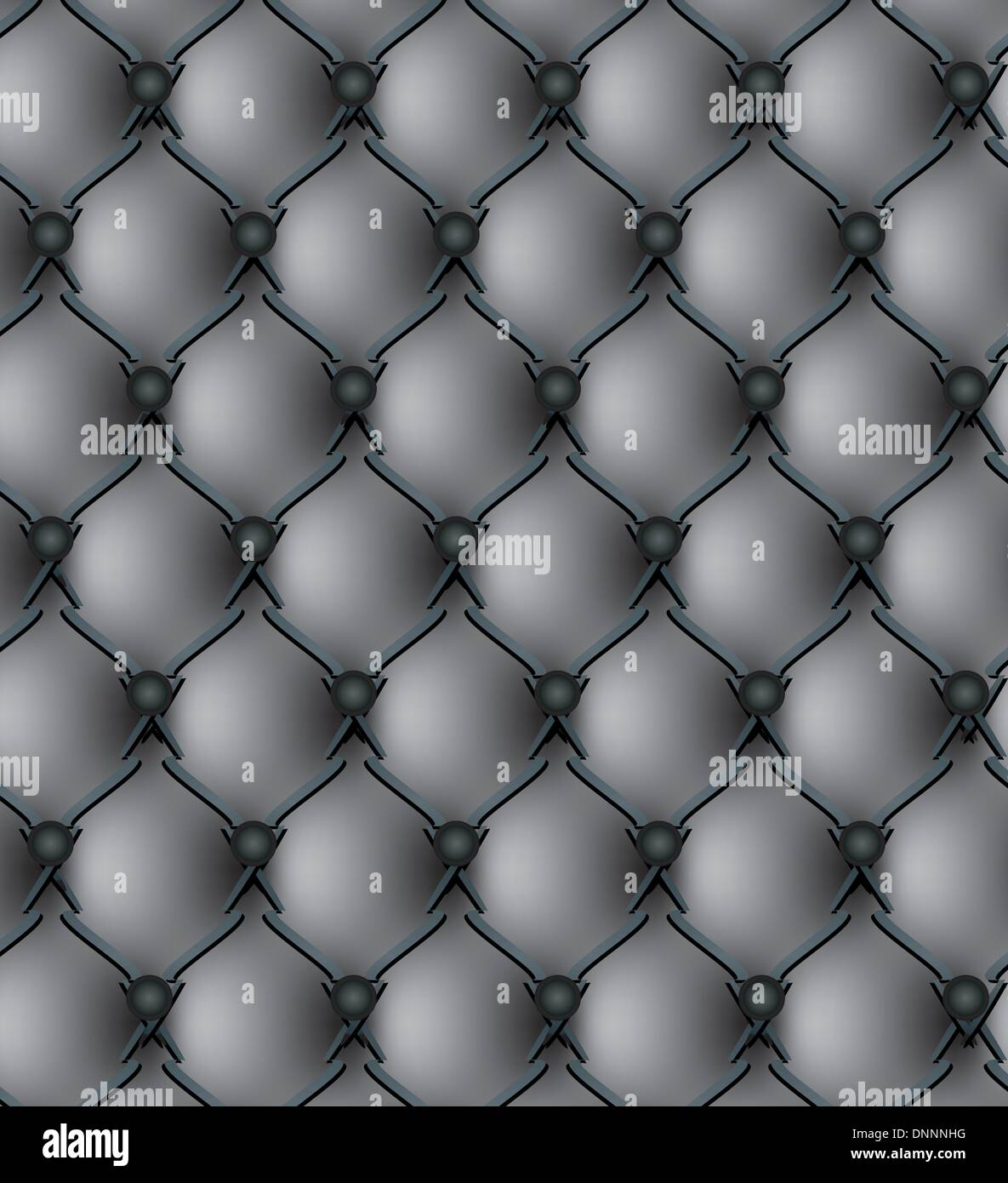 Black genuine leather upholstery pattern vector illustration - Stock Image