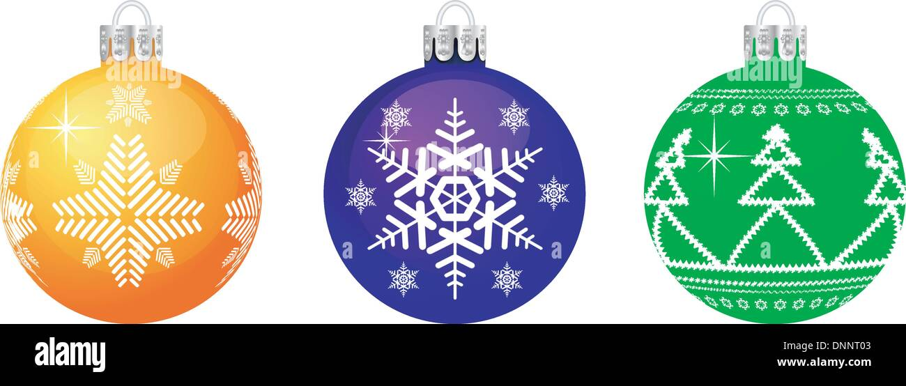 Vector Christmas sphere. No transparency and effects. - Stock Image
