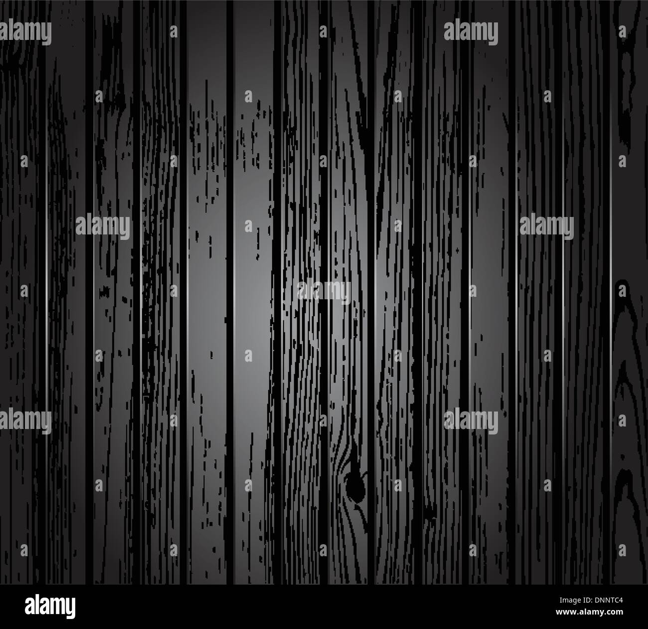Wood vector texture in black and white style. Easy to recolor - Stock Image