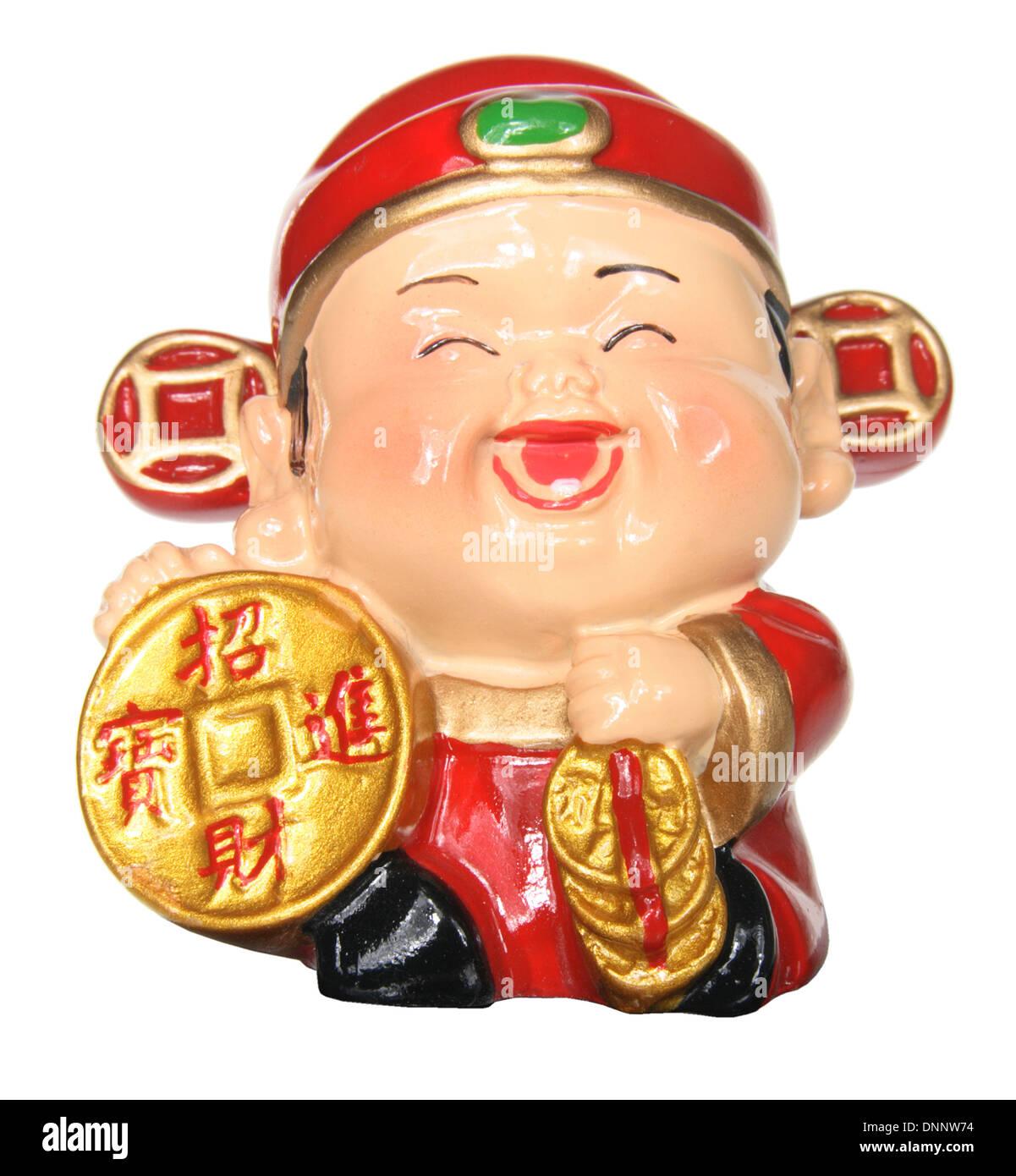 God of Prosperity Figurine - Stock Image