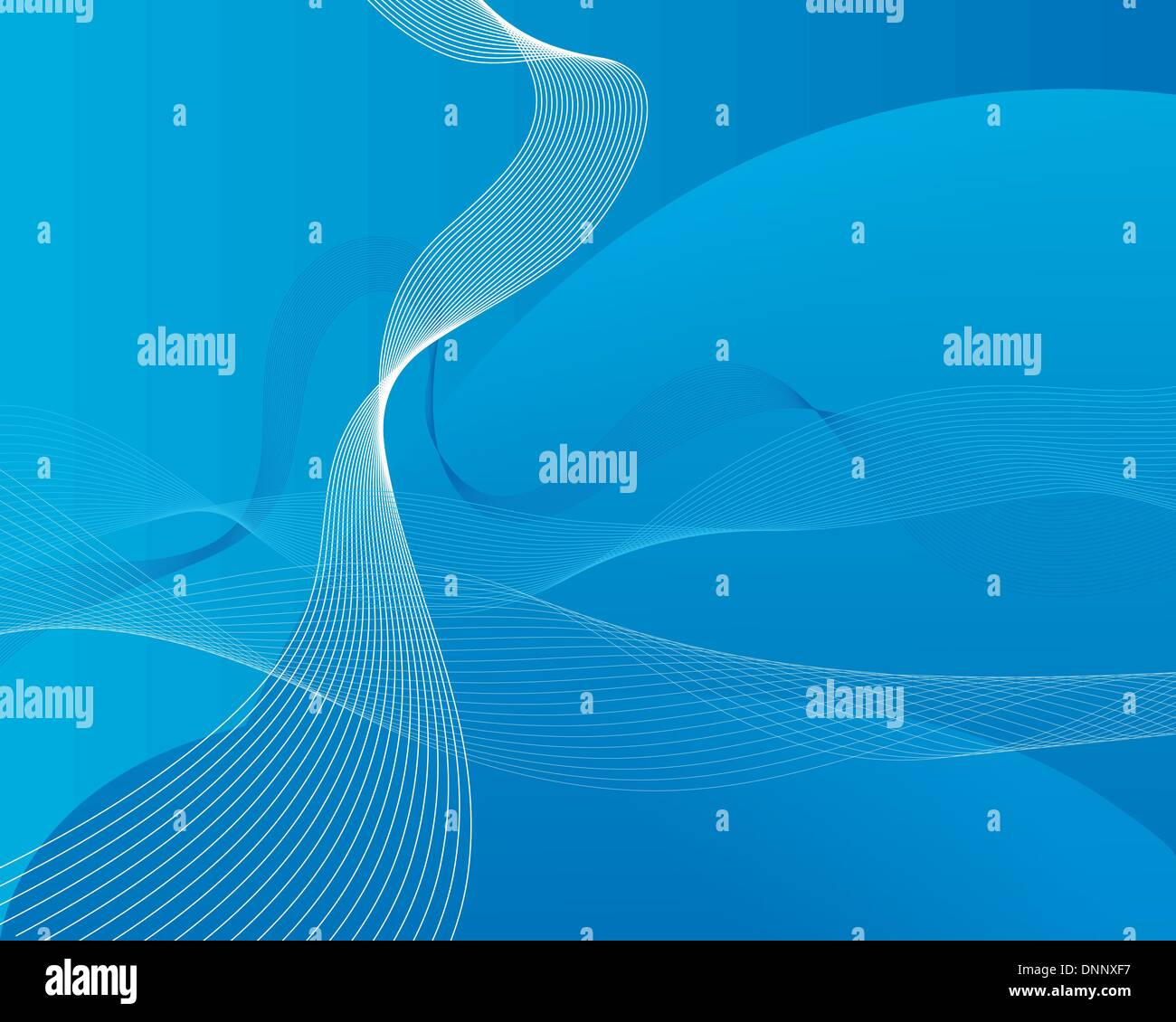 Abstract Water Vector Background With Ocean Waves Stock