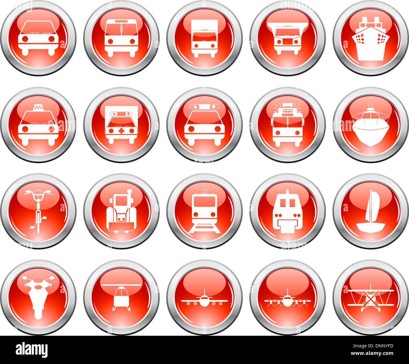 Vector collection of different music themes icons - Stock Image