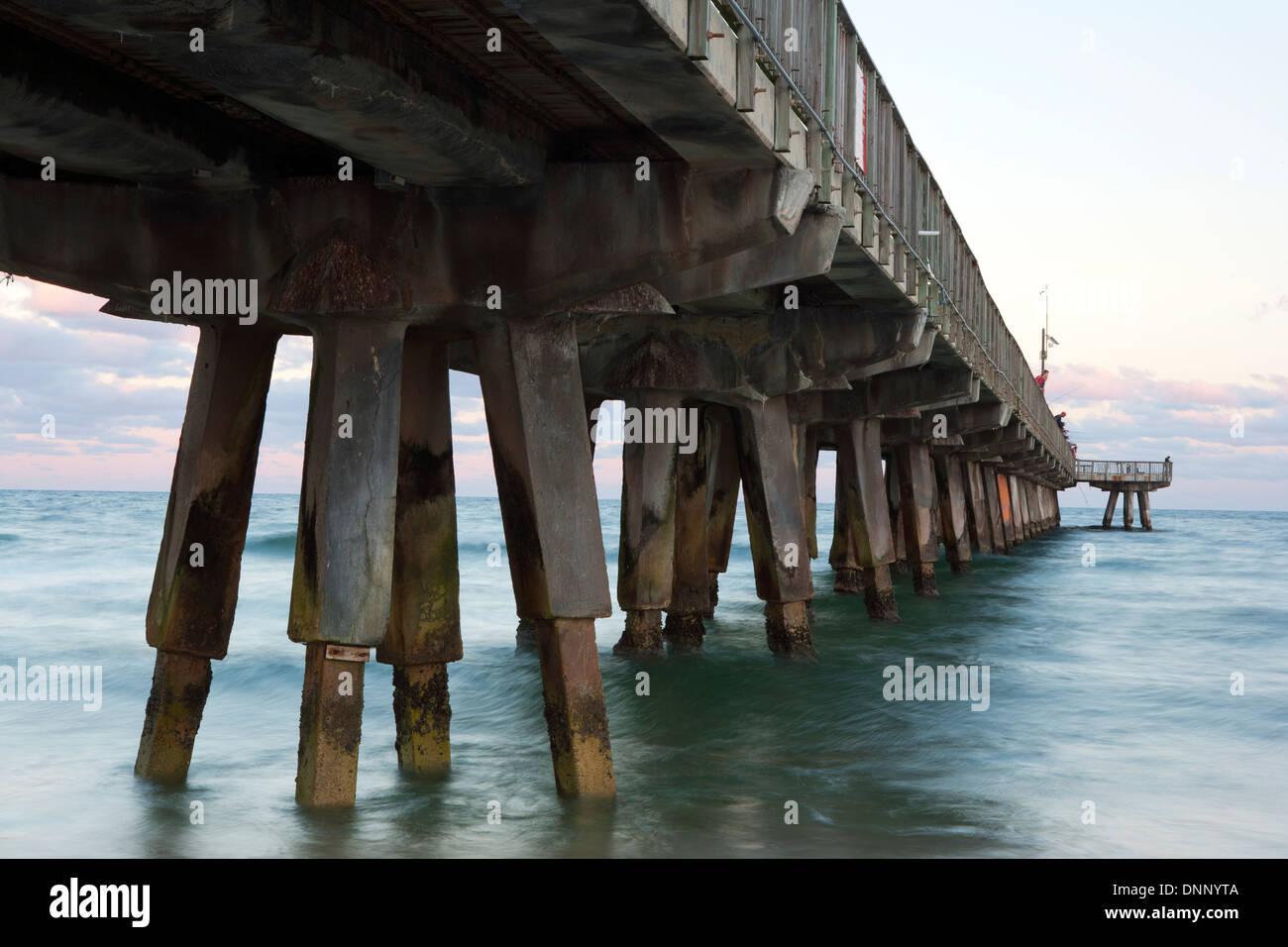 Pompano Beach Pier - Pompano Beach, Florida USA - Stock Image