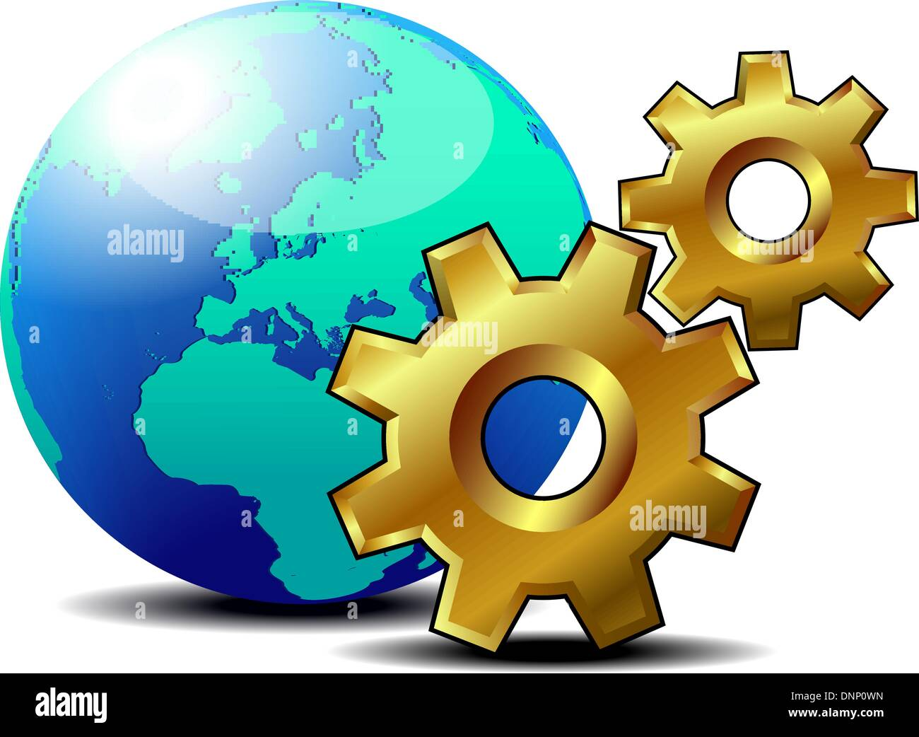 Global Preferences icon settings - Stock Vector