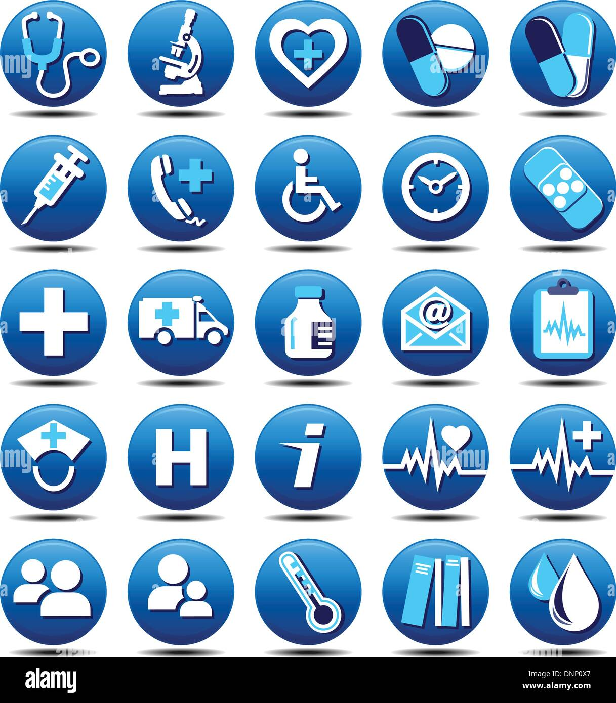 25 Health Care Icons -  health care patient doctor medical medicare hospital emergency  nhs - Stock Vector
