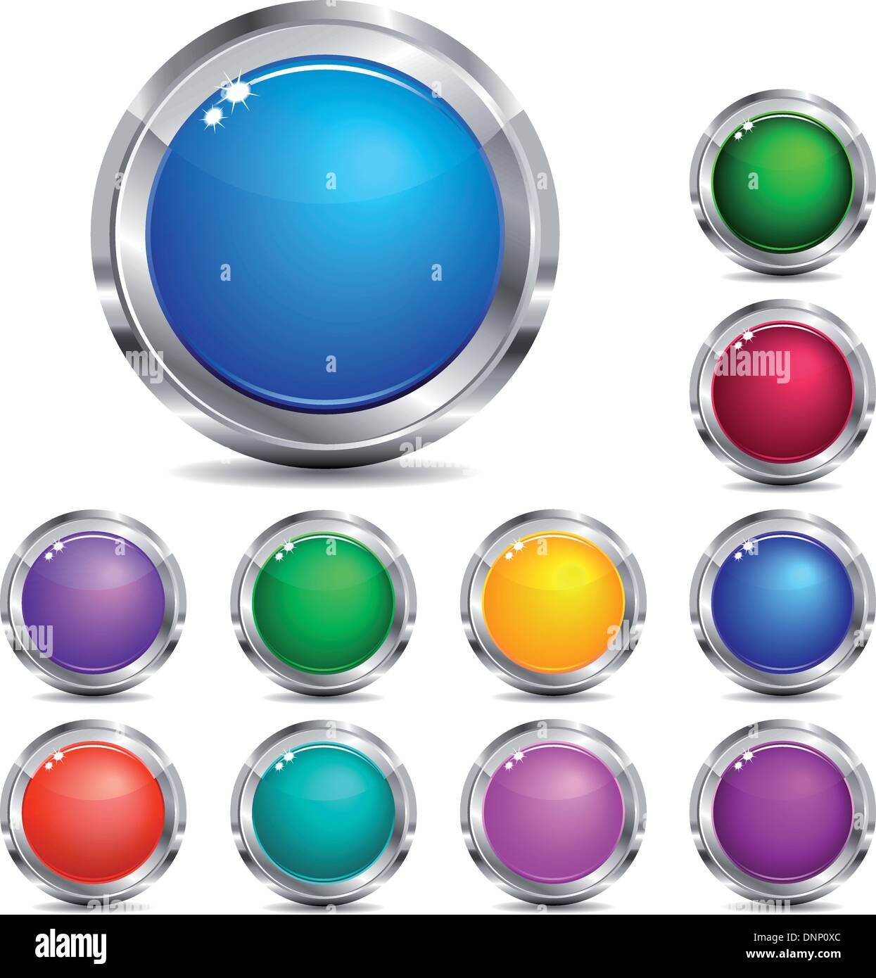 Vector Website Buttons - Stock Image