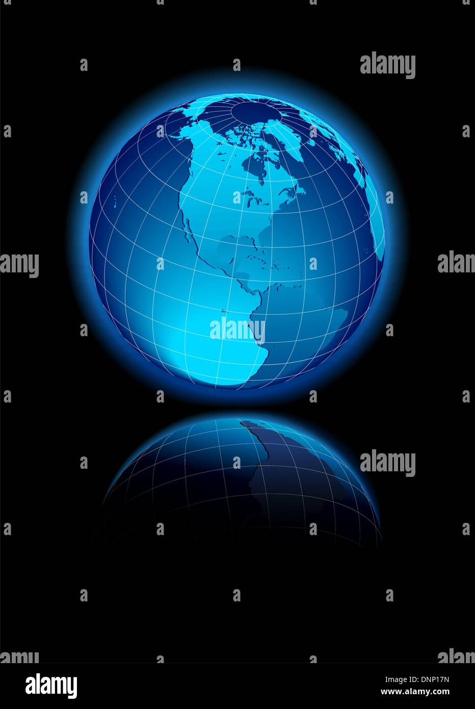 North and South America Global World - Stock Image
