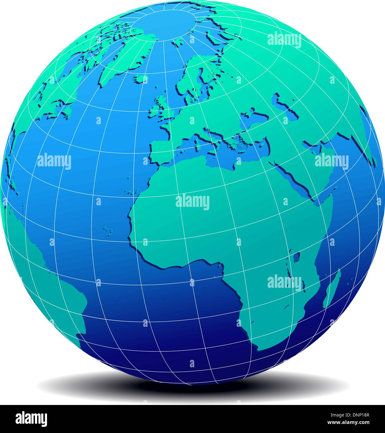 North Africa World Map.Vector Map Icon Of The World In Globe Form Europe North Africa