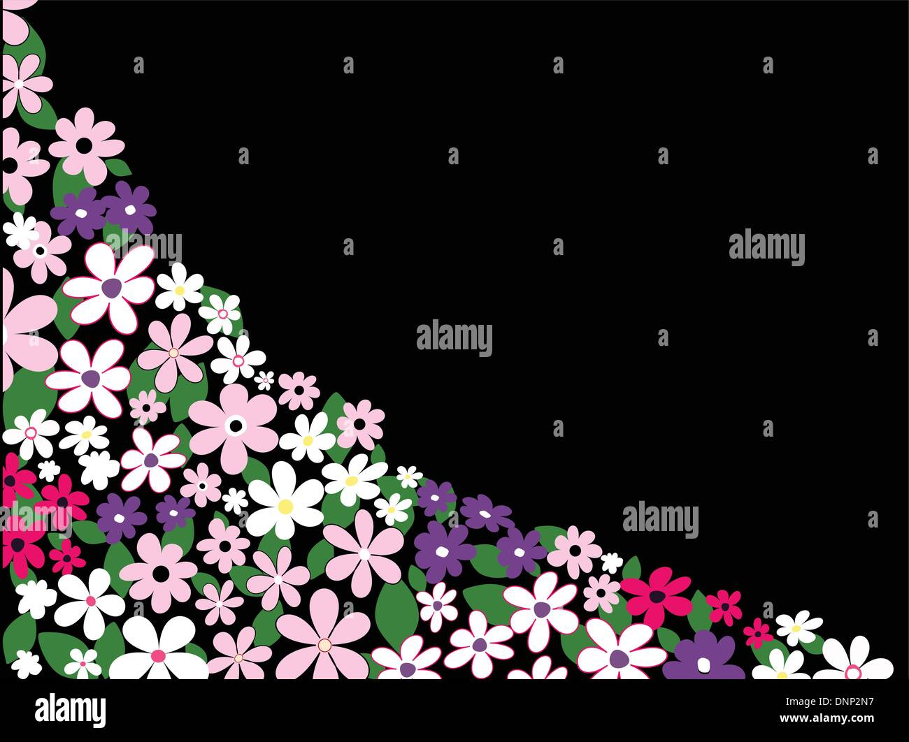 Background of summer flowers - Stock Image