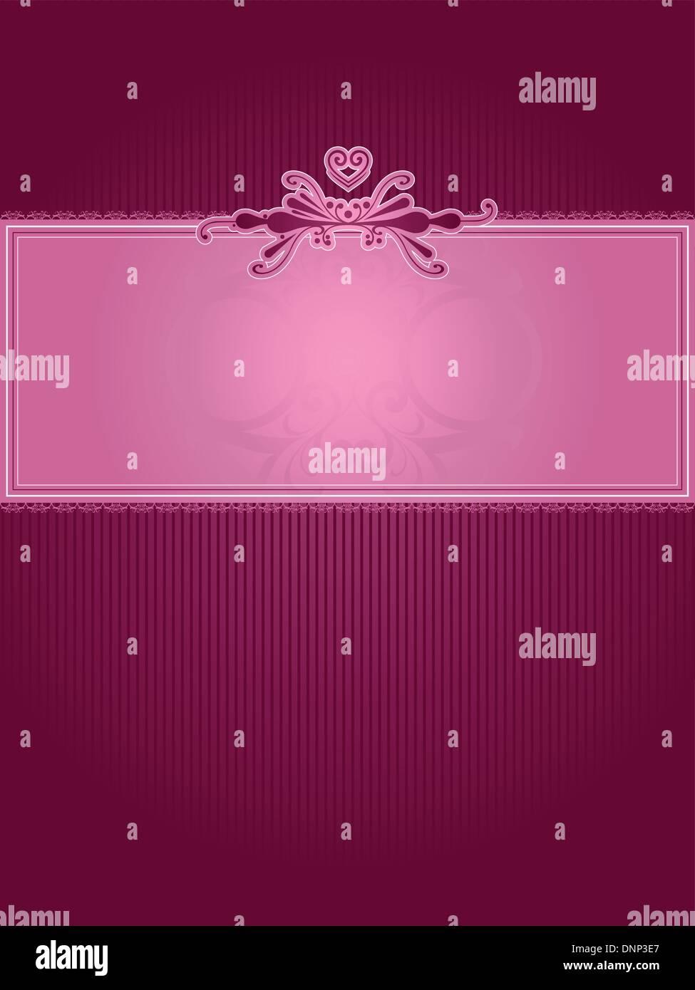 Decorative Valentines background - Stock Image