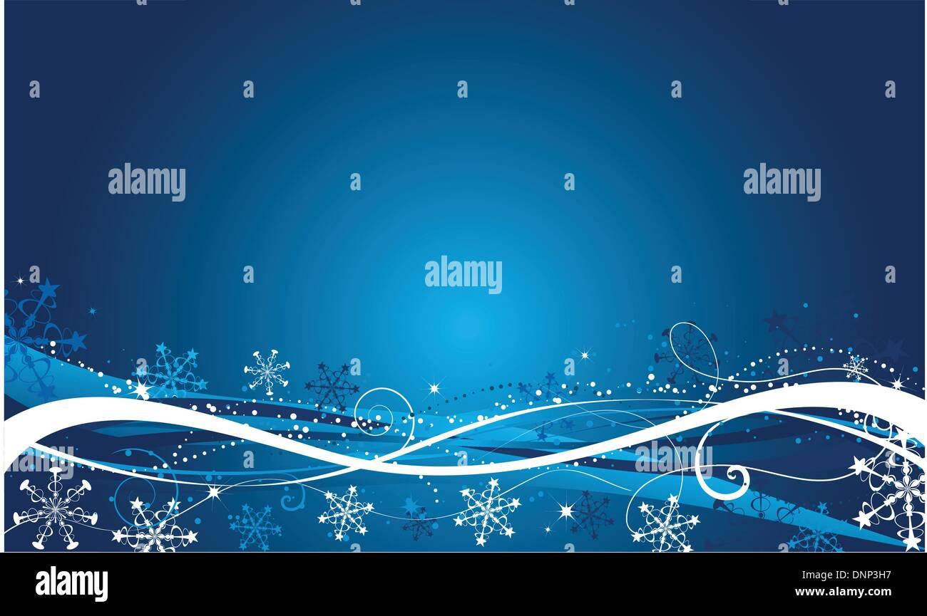Decorative winter background - Stock Image