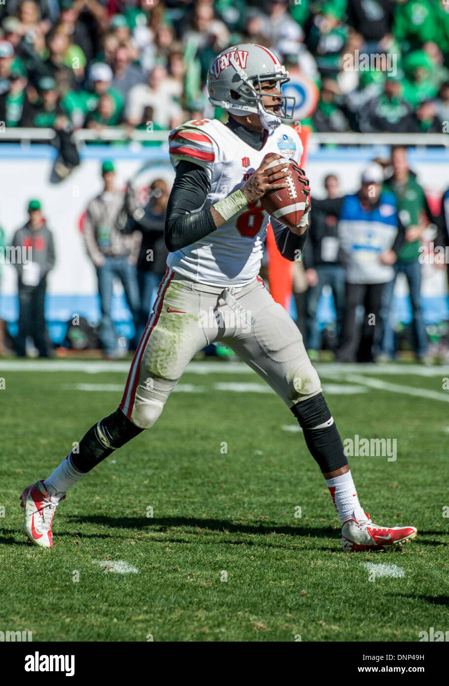 Dallas Texas Usa January 1st 2014 Unlv Rebels Quarterback Caleb Stock Photo Alamy