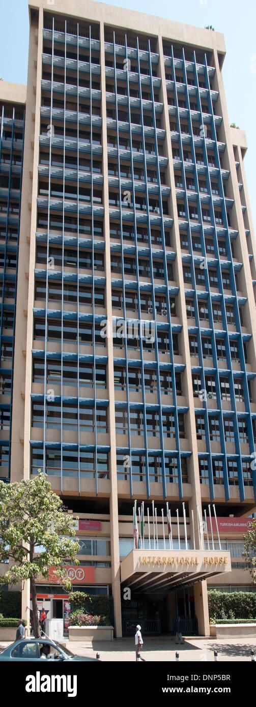 International House on City Hall Way Nairobi Kenya - Stock Image