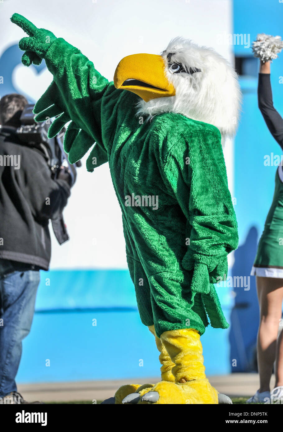 Dallas Texas Usajanuary 1st 2014 North Texas Eagle Mascot In Stock Photo Alamy