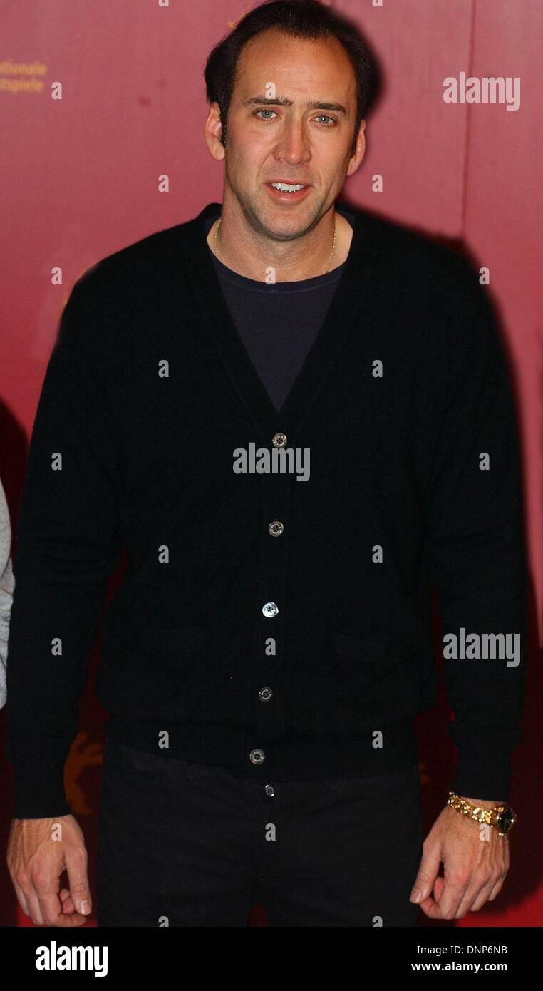 Nicolas Cage at the photocall of his Berlinale competition film 'Adaption'. - Stock Image