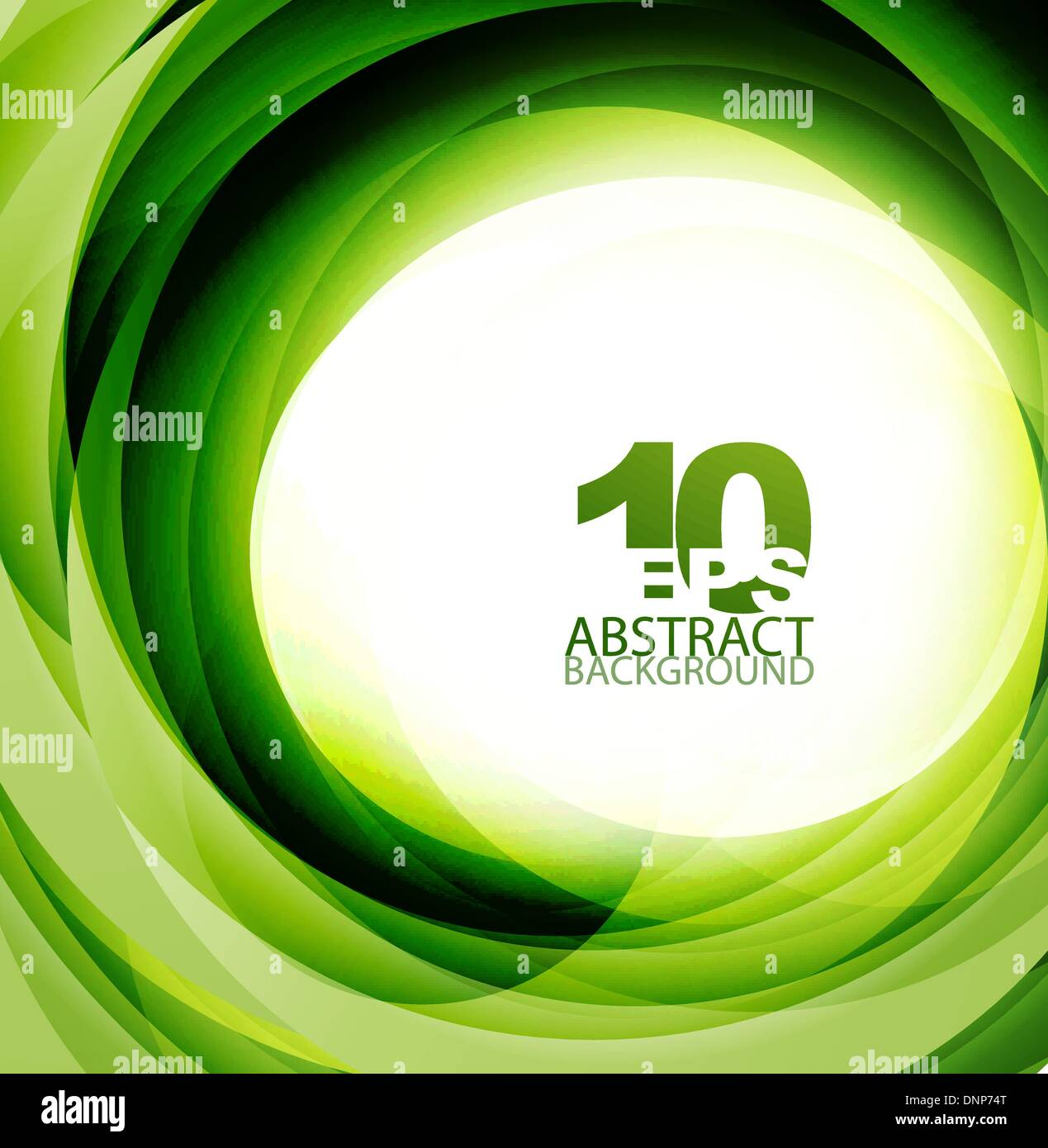 Vector green eco swirl abstract background - Stock Image
