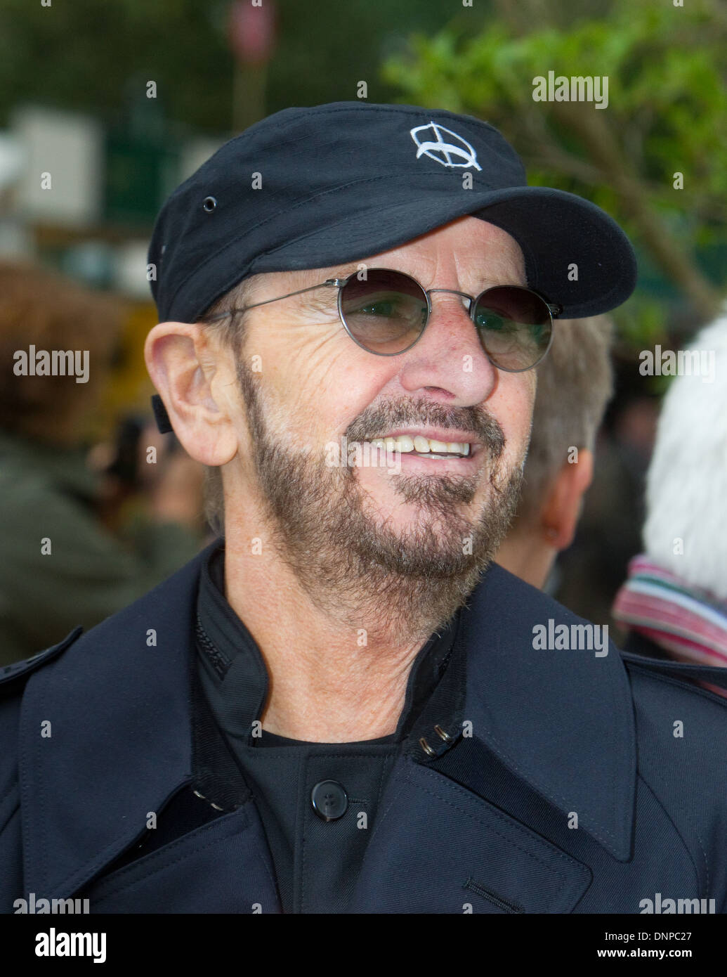 Ringo Starr ,Real name Richard Starkey,Drummer with The Beatles - Stock Image