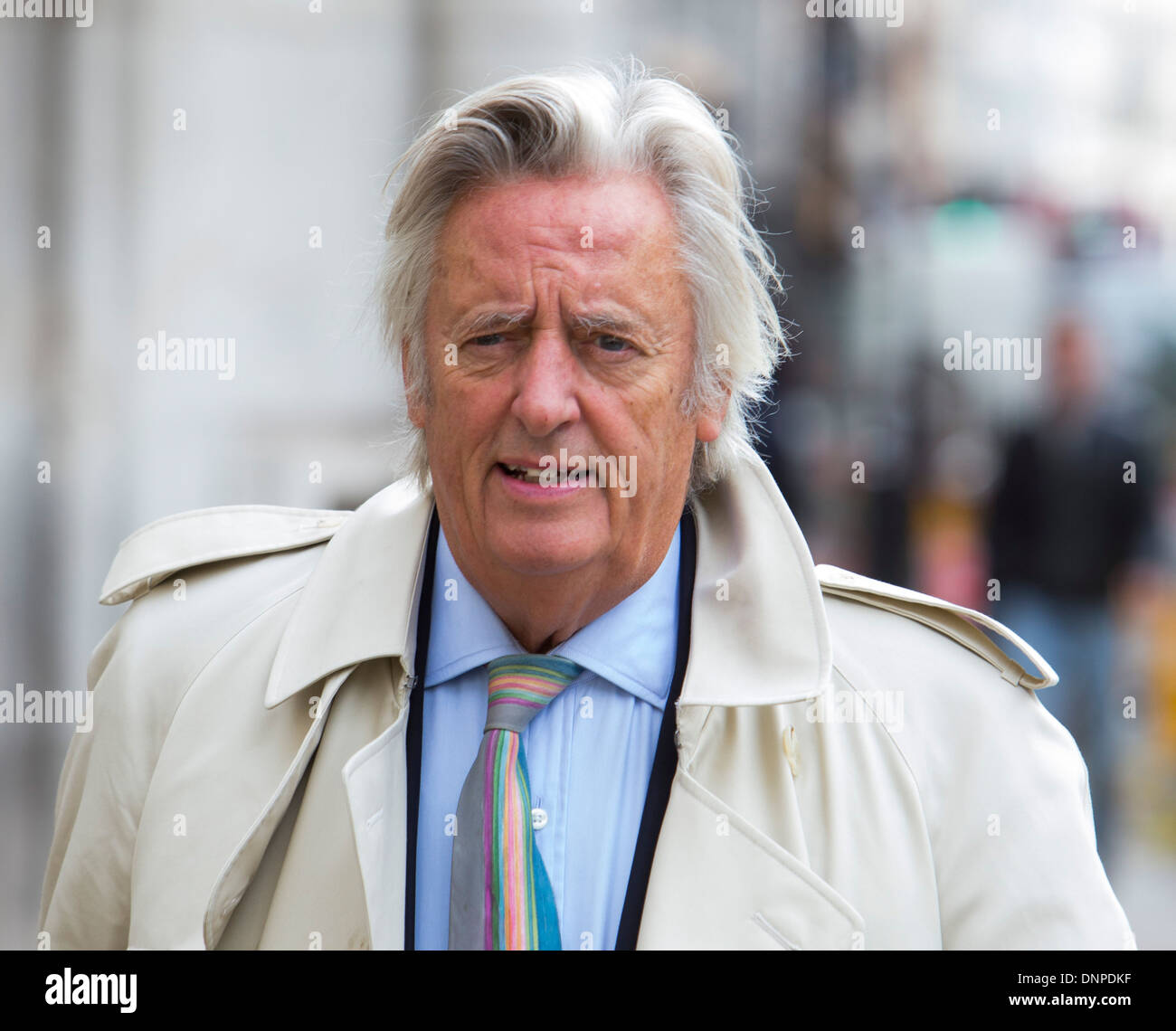 Michael Mansfield QC outside the High Court,The Strand, London - Stock Image