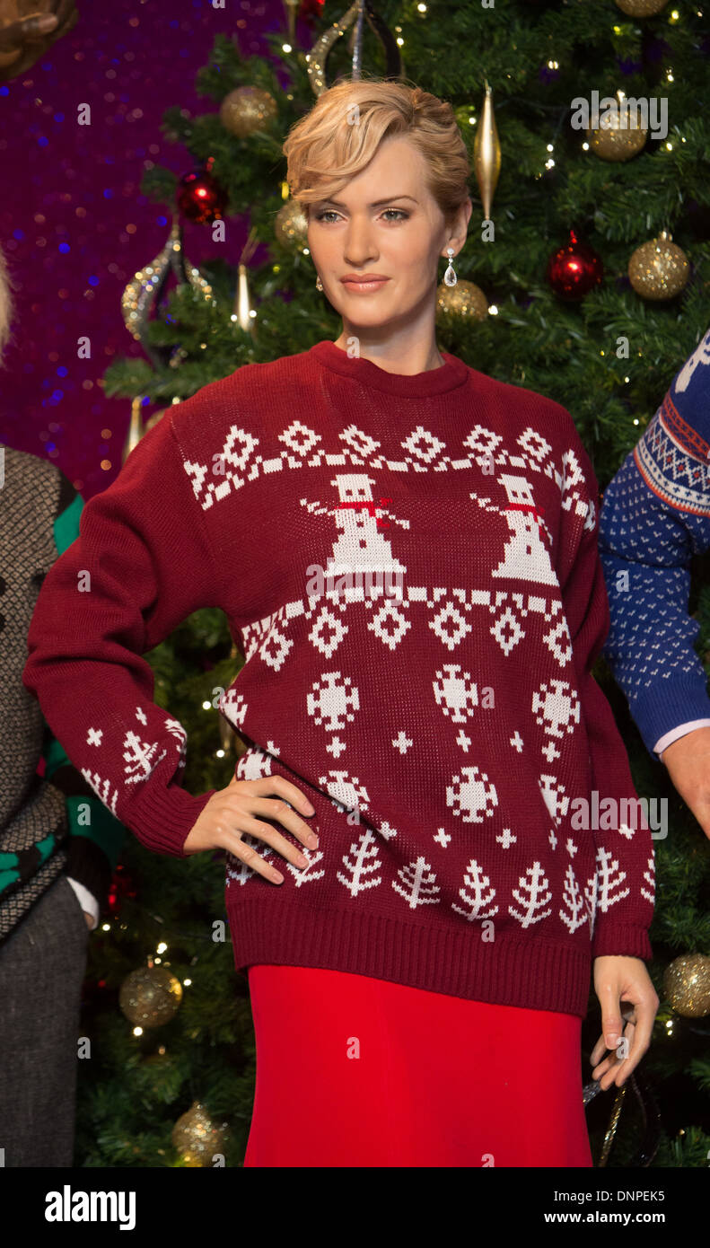 Kate Winslet Christmas Jumper Madam Tussauds - Stock Image