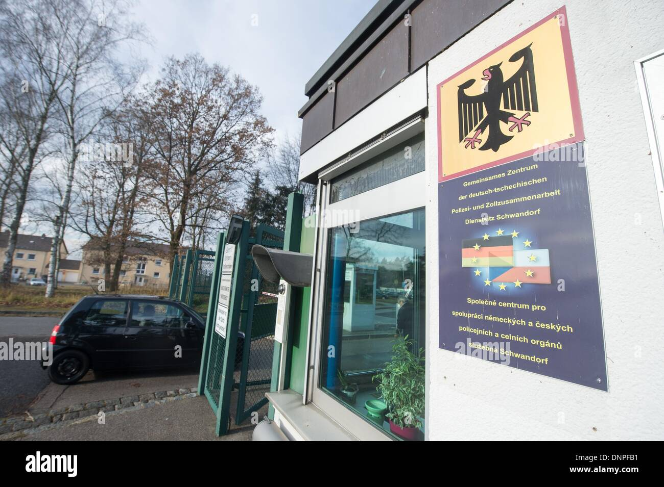 Schwandorf, Germany. 03rd Jan, 2014. View of the German/Czech Police and Customs Co-operation Center ('Gemeinsames Stock Photo