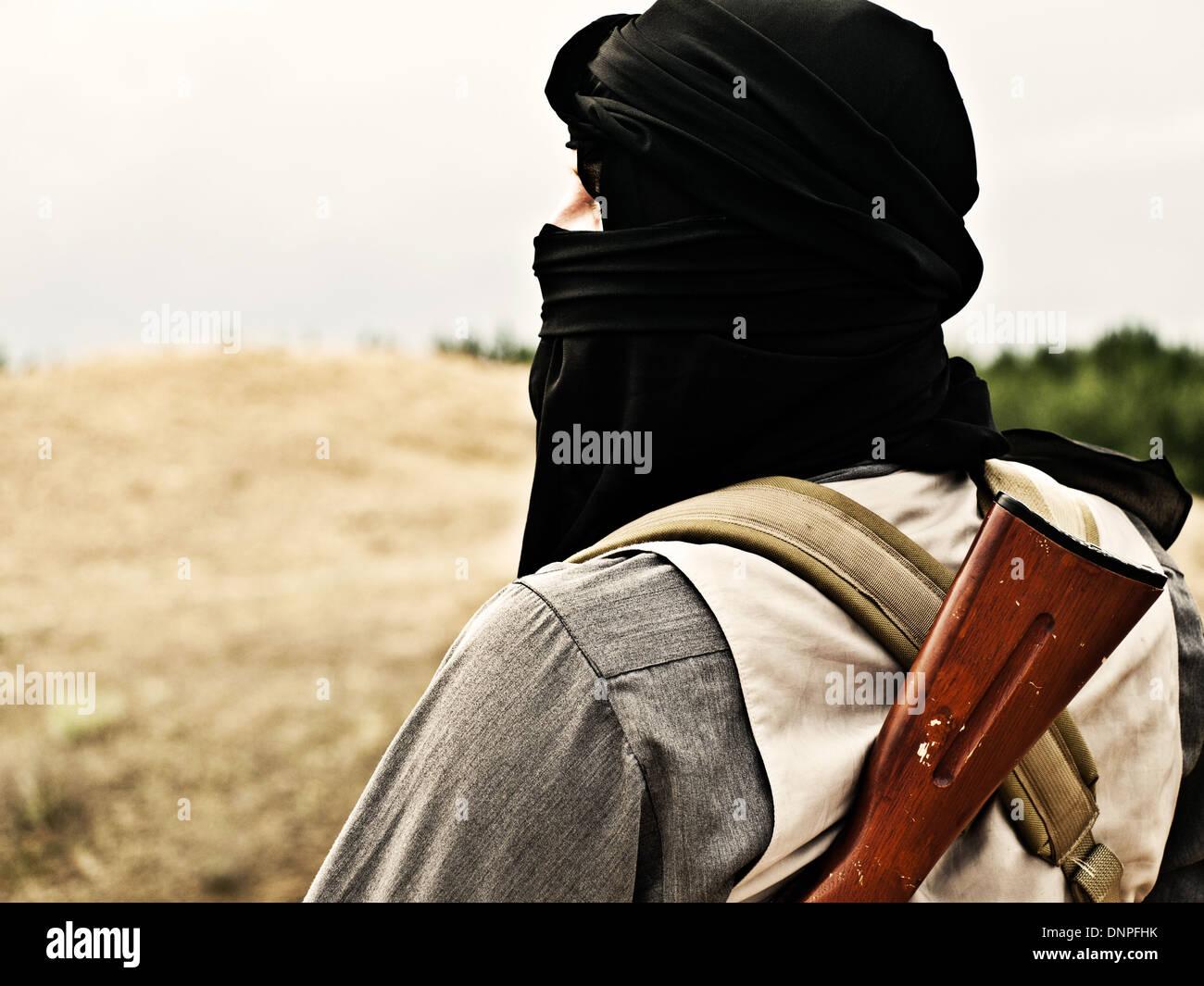 Muslim rebel Stock Photo