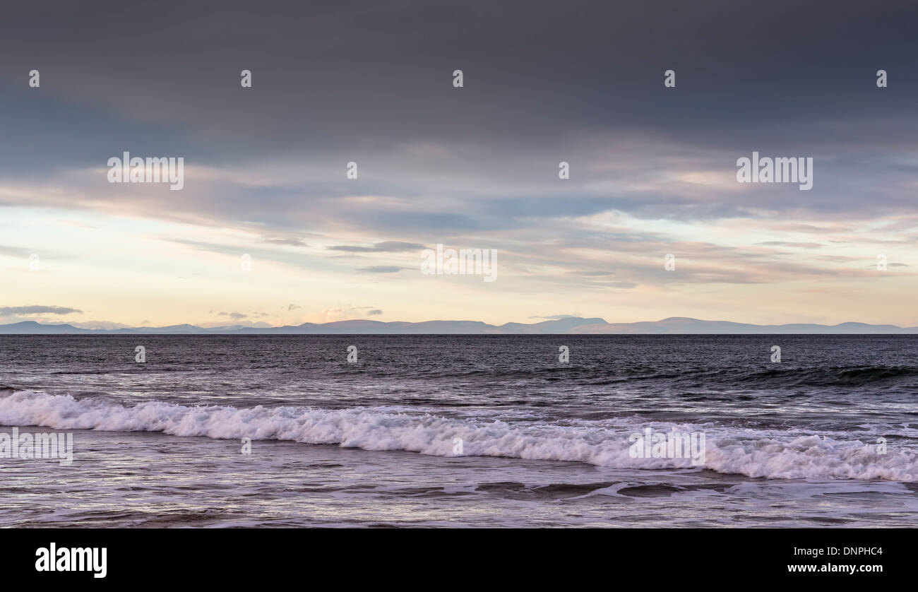 Lossiemouth beach view of Cromarty. - Stock Image
