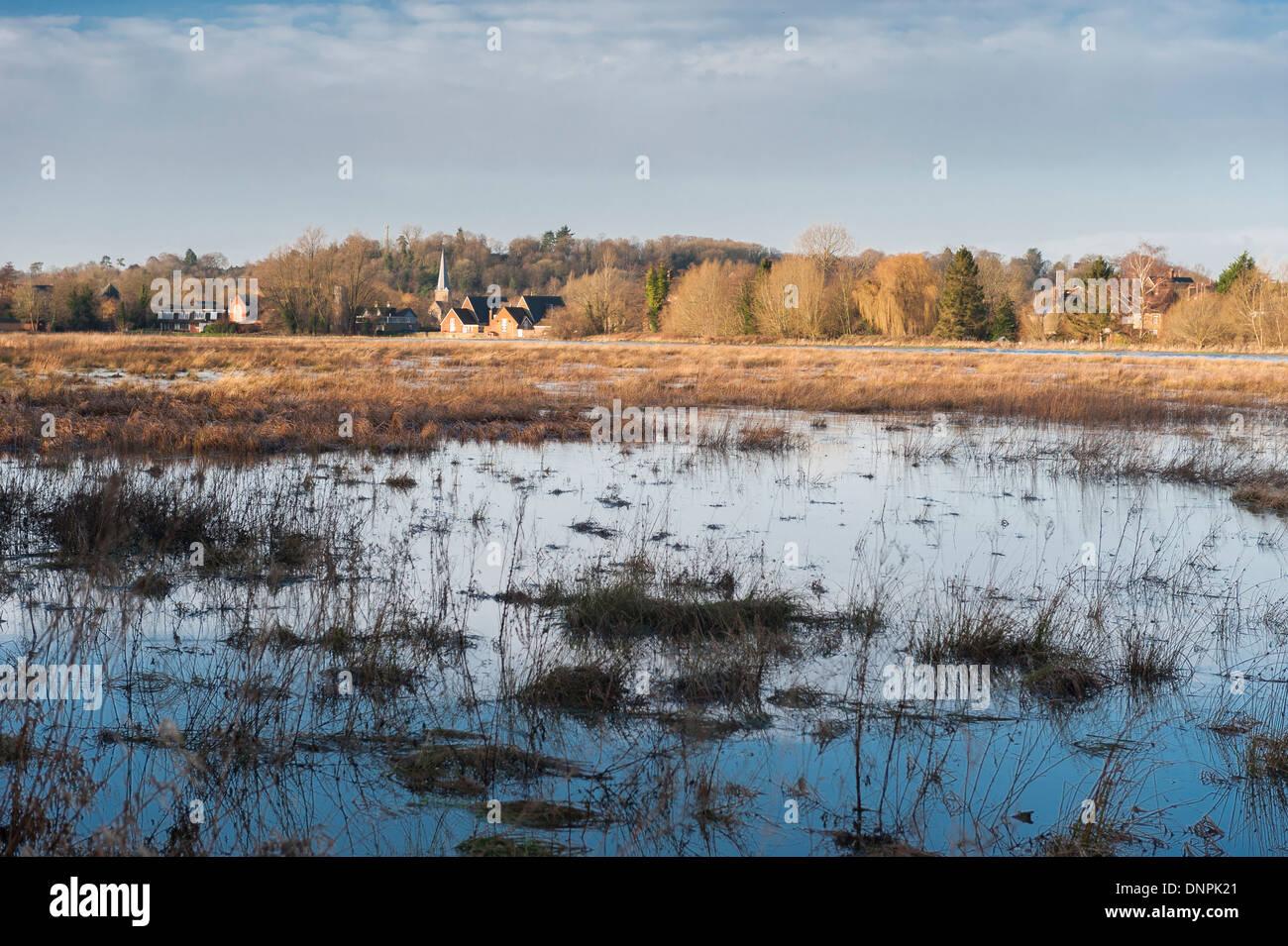 Flooding, 2014, Godalming, Surrey, England - Stock Image