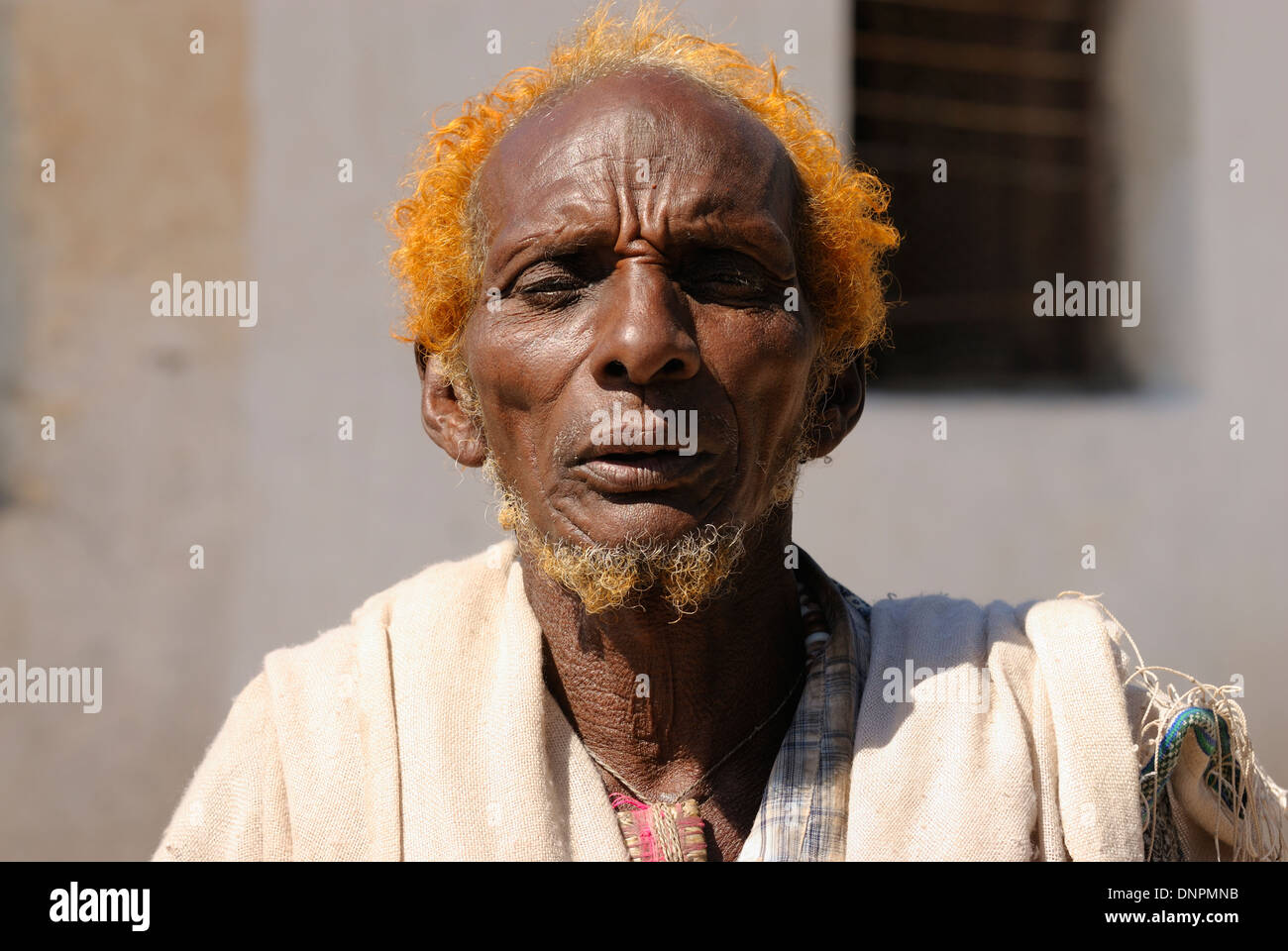Issa man in Dikhil town in the south of Djibouti, Horn of Africa Stock Photo
