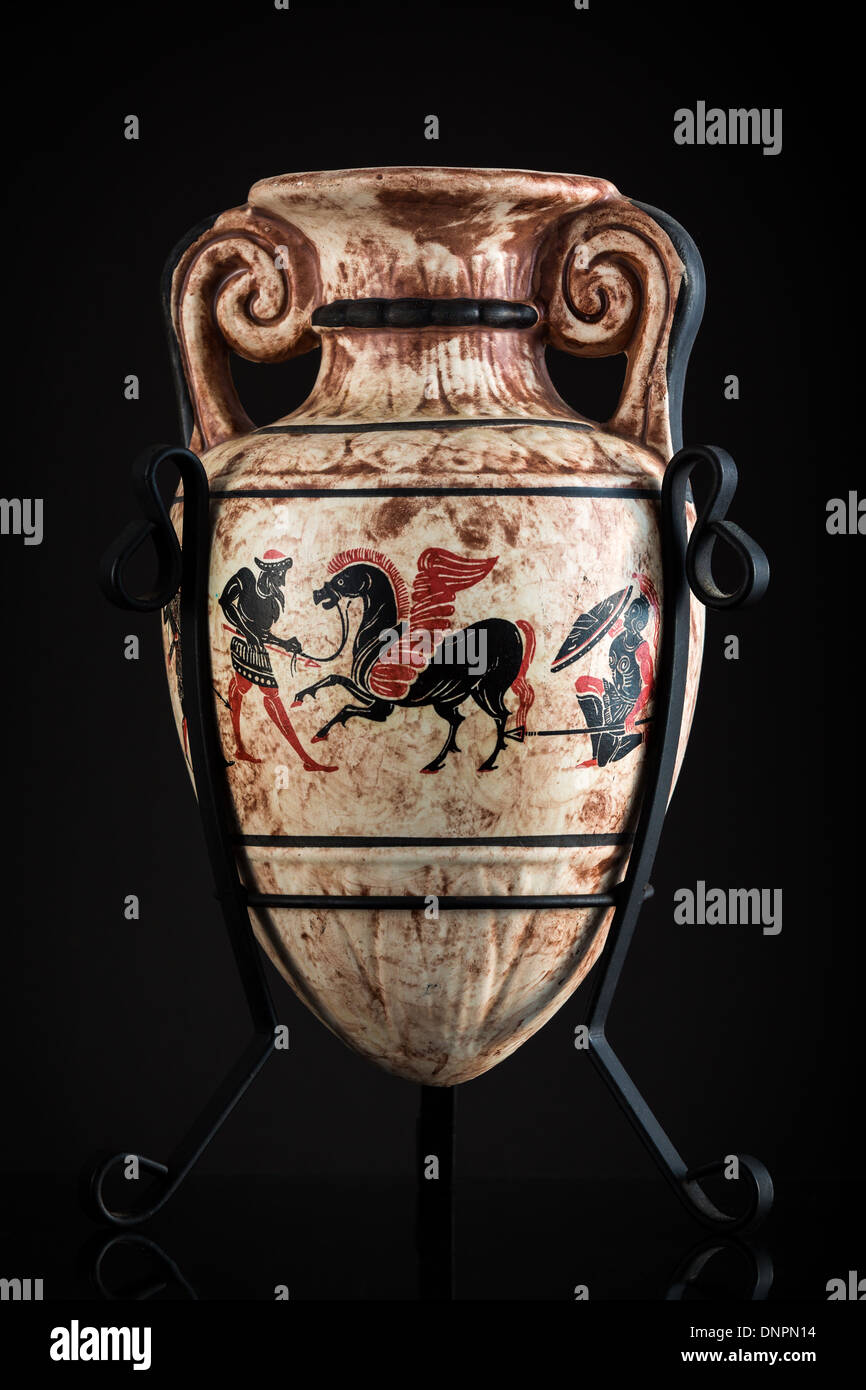 Ancient Greek vase sold as a souvenir in Rhodes - Stock Image