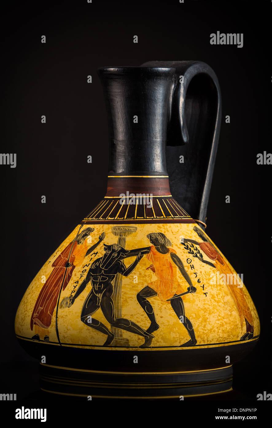 Ancient Greek vase sold as a souvenir in Crete - Stock Image