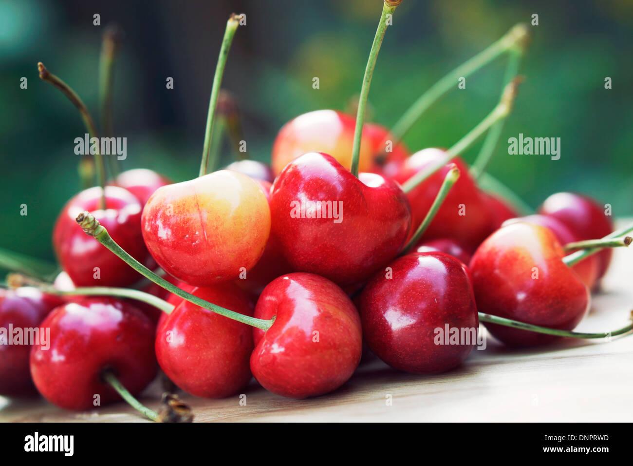 Cherries, Fresh Cherries - Stock Image