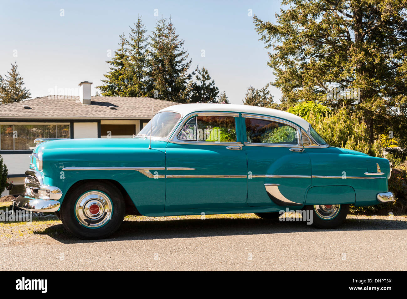 1953 Pontiac Chieftain Four Door Hardtop Sedan Stock Photo Alamy