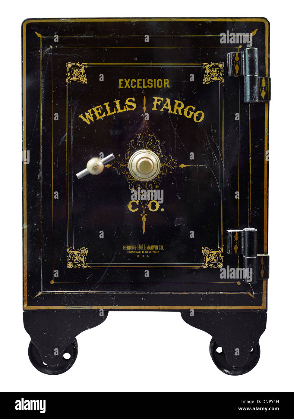 Old Antique Wells Fargo Safe - Stock Image