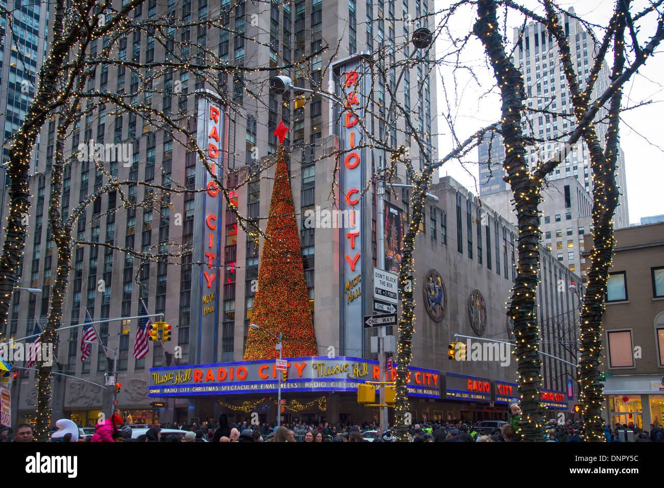 Radio City Music Hall, New York City, New York USA at Christmas Time - Stock Image