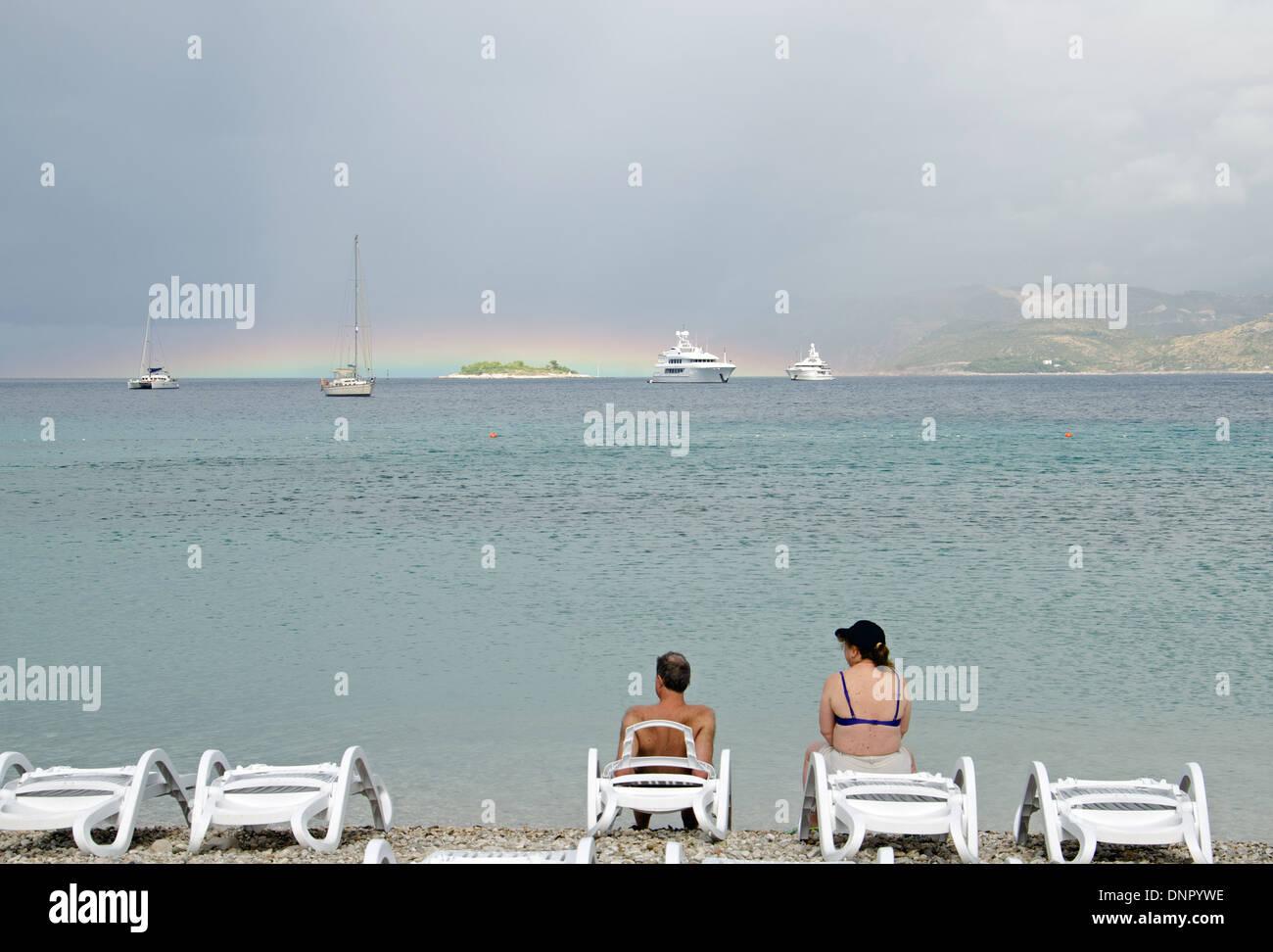 live beach - Stock Image