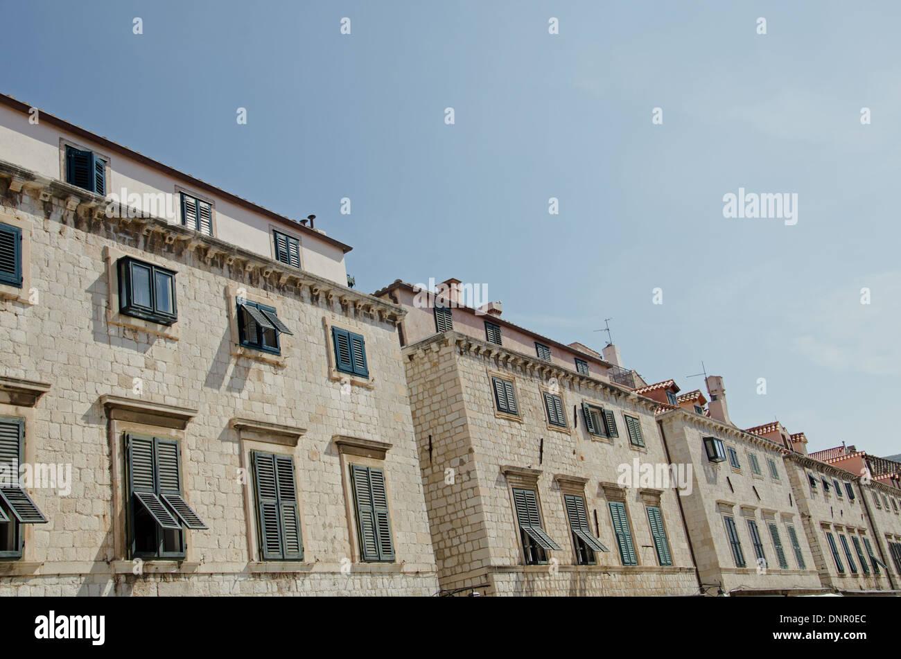 a facade in Dubrovnik - Stock Image