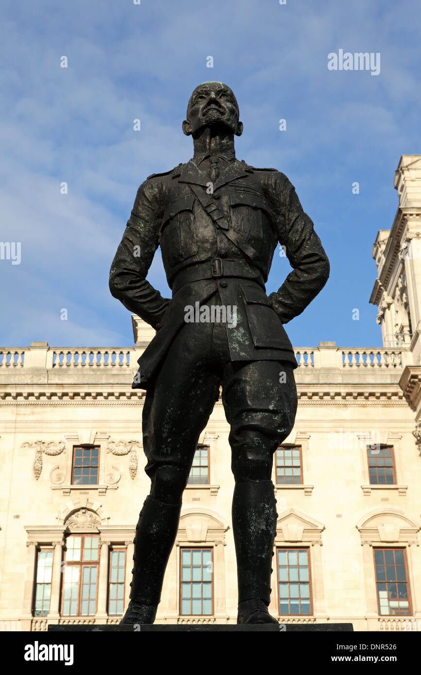 Statue of Jan Smuts (1870 - 1950) in London, England. - Stock Image