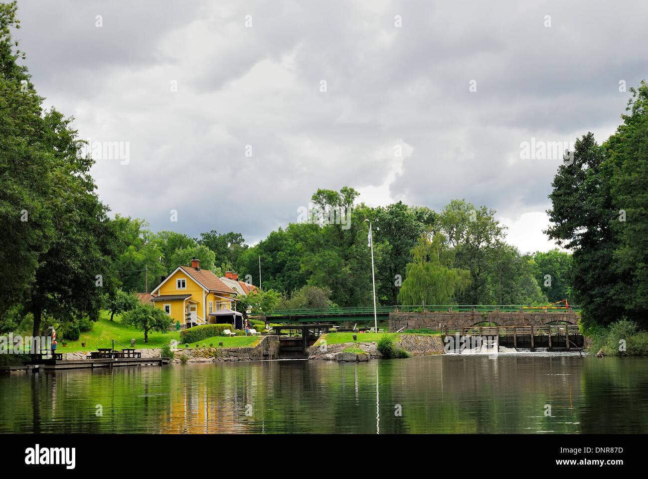 Summer house idyll Stock Photo