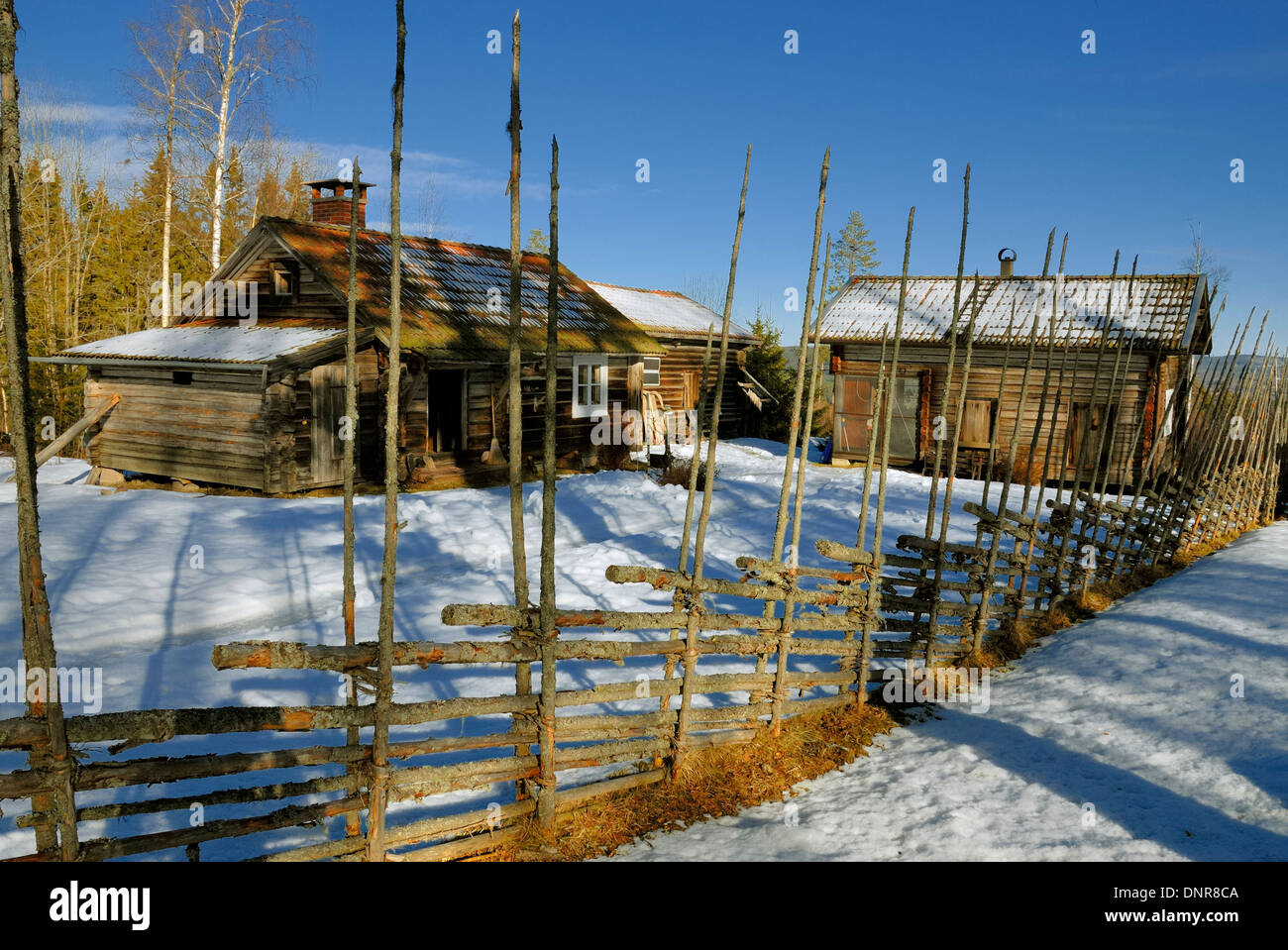 Idyllic winter house - Stock Image