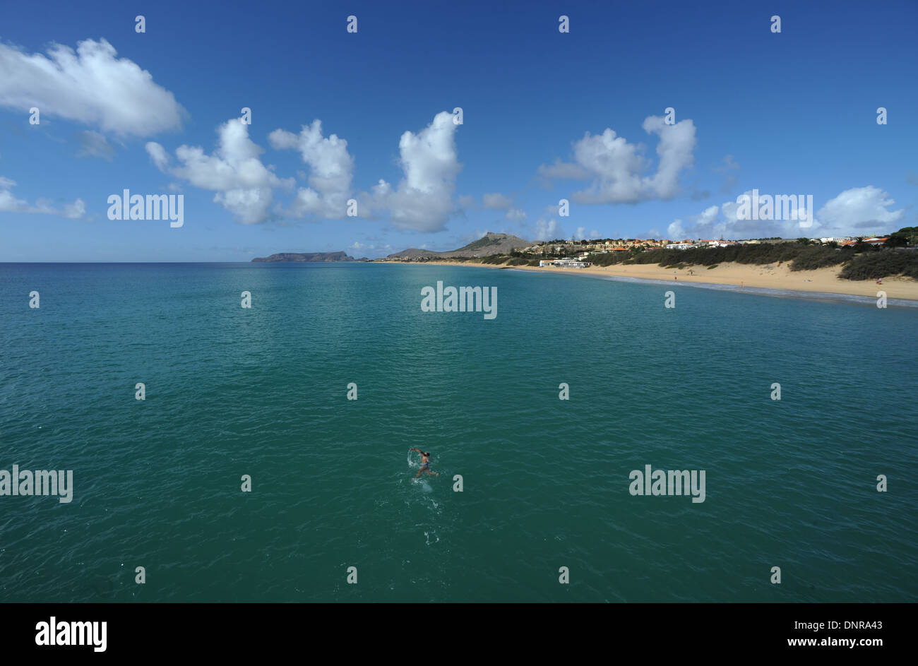 The Island of Porto Santo Madeira - Stock Image