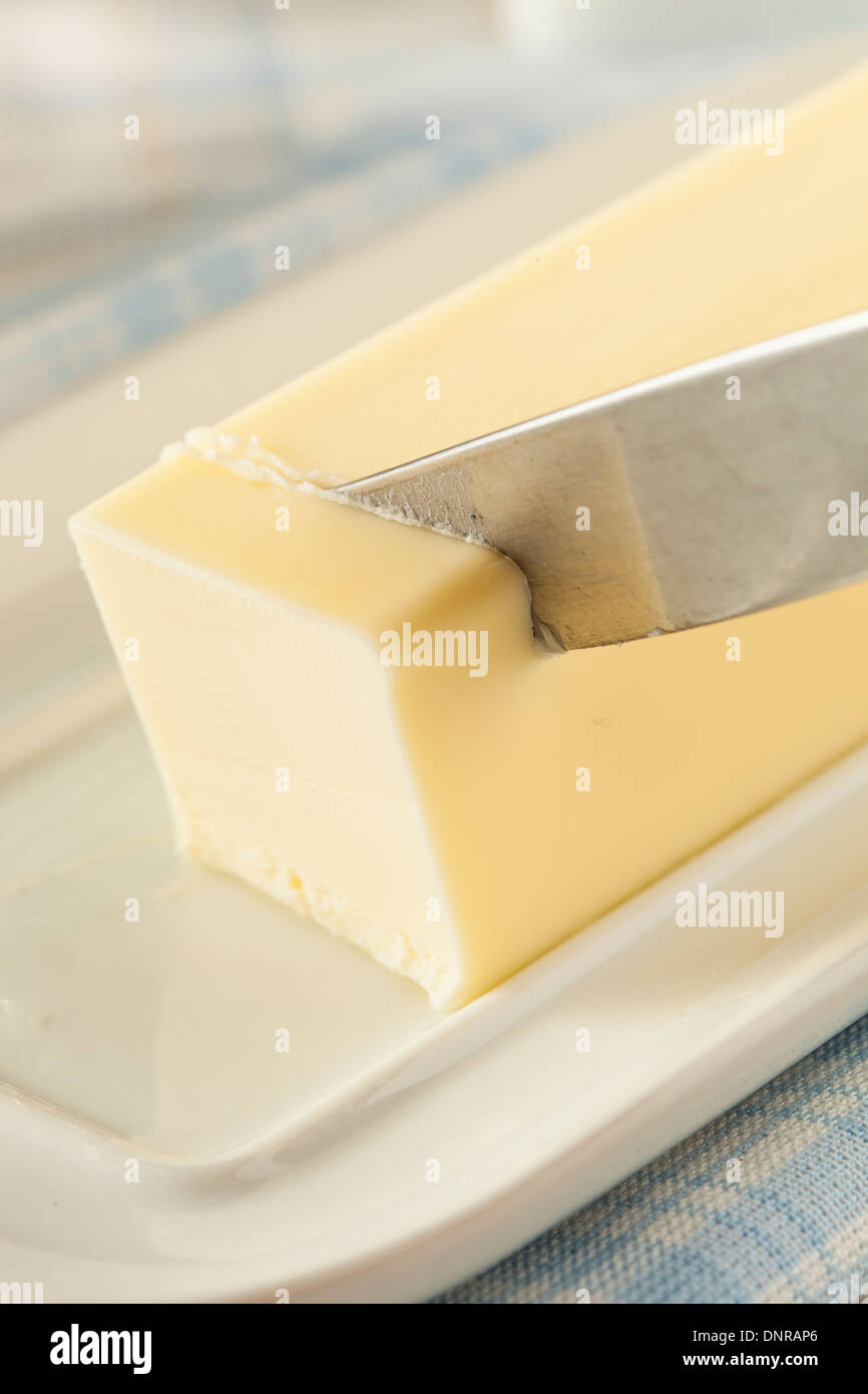 Organic Dairy Yellow Butter an Ingredient for Cooking - Stock Image