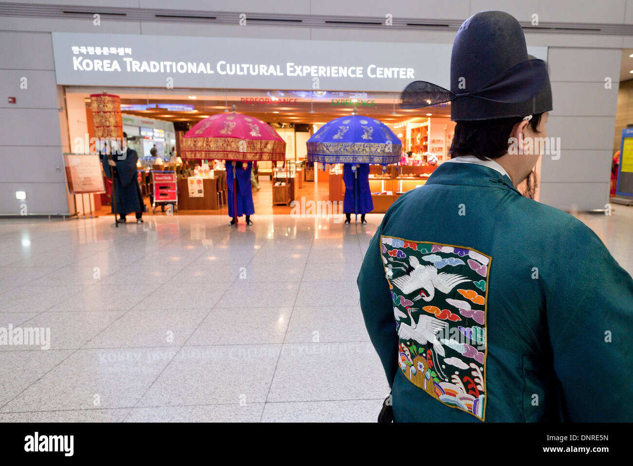 Korea Traditional Cultural Experience Center at Incheon International Airport - South Korea - Stock Image