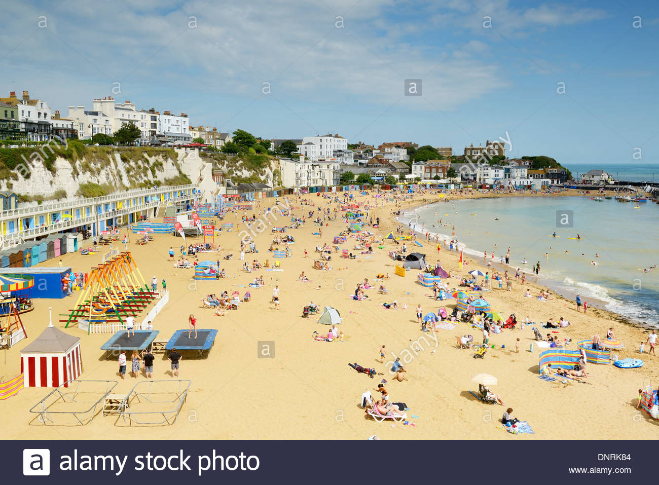 Viking bay beach, Broadstairs, Kent, England UK - Stock Image