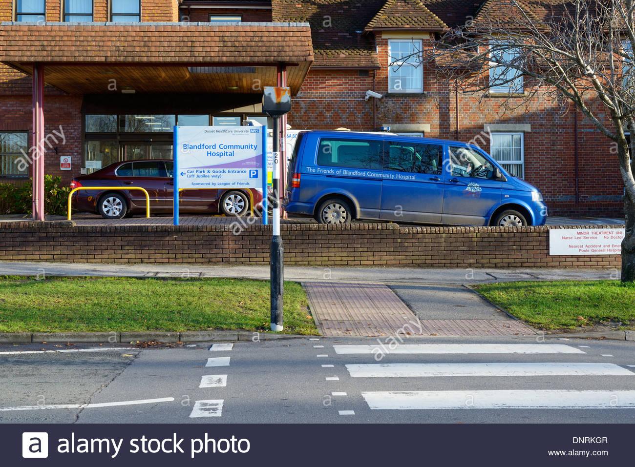 Blandford Community Hospital, Blandford Forum, Dorset England UK - Stock Image