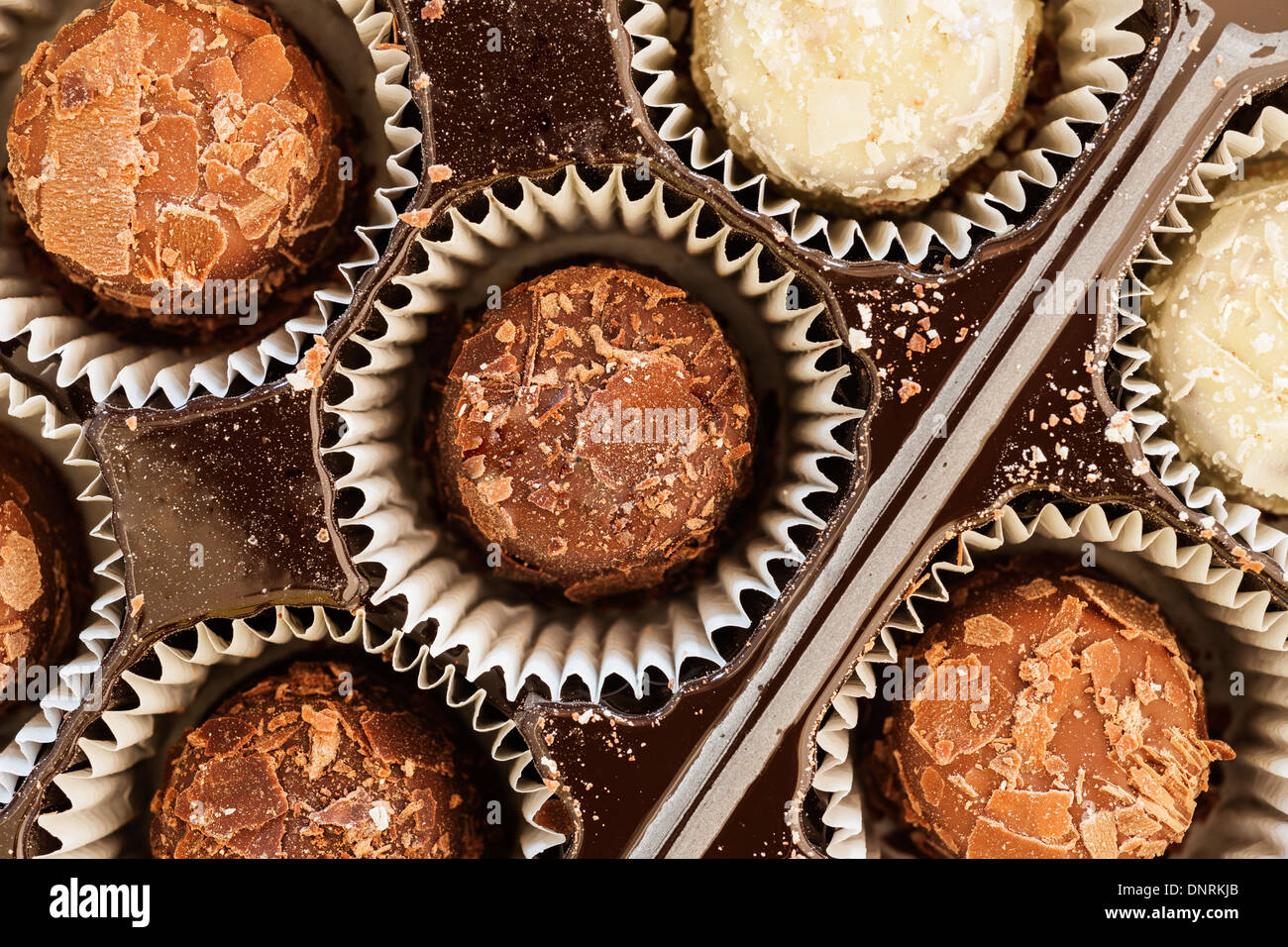 A selection of Guylian Belgian chocolate truffles - Stock Image