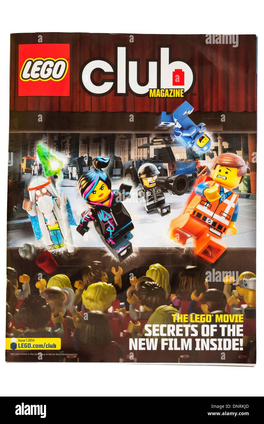 A Lego club magazine on a white background - Stock Image